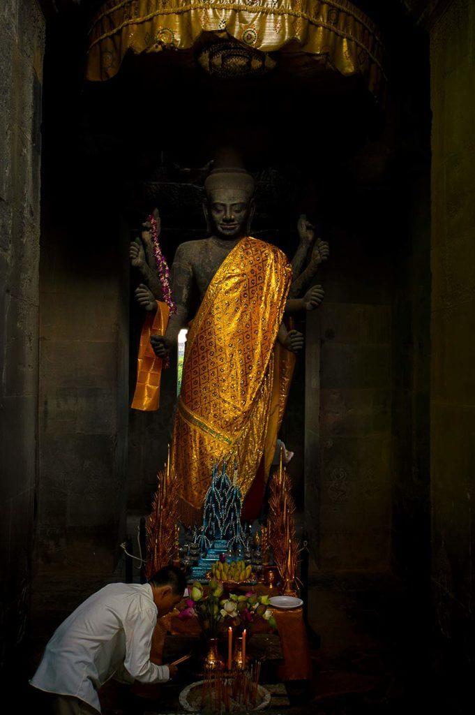 Angkor Wat - Vishnu Figur