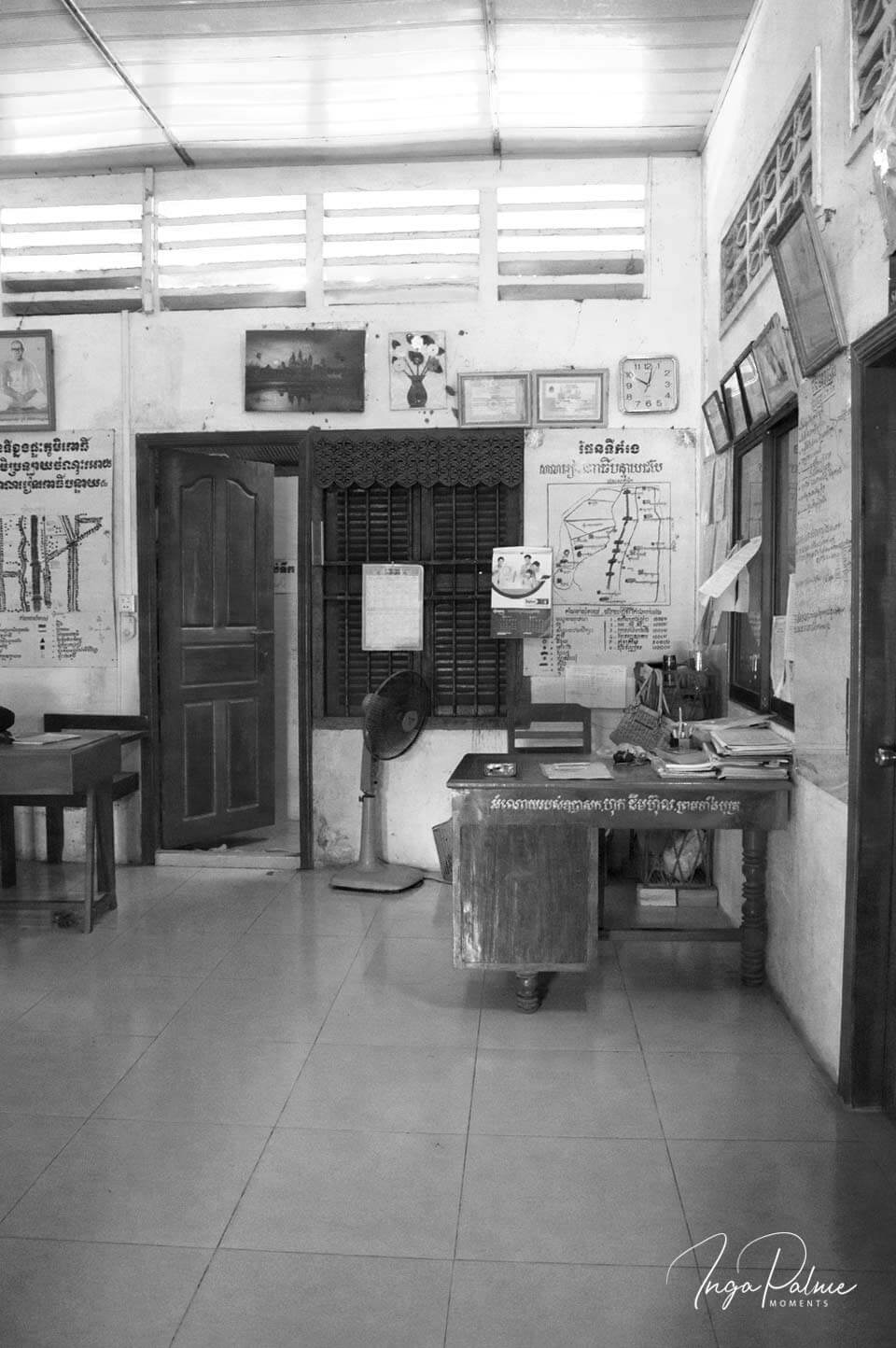 Das Sekretariat einer Schule in Siem Reap