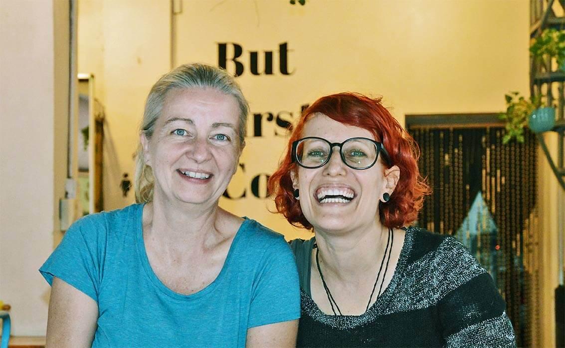 Inga und Sara - Siem Reap