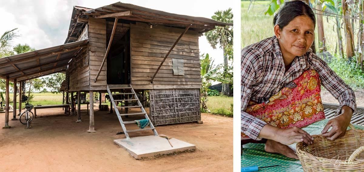 Korbflechterin - Siem Reap, Kambodscha