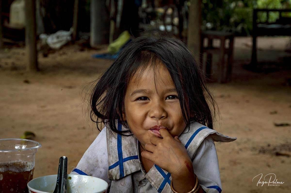 Kleines Mädchen, Siem Reap - Kambodscha