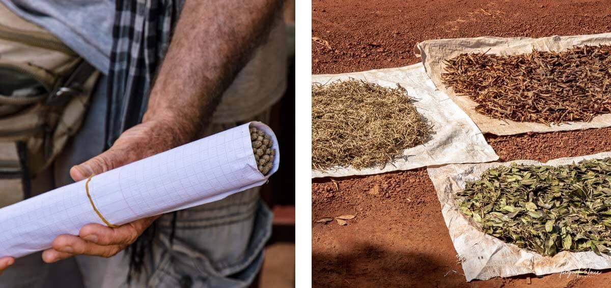 Zutaten handgefertigte Räucherstäbchen - Siem Reap