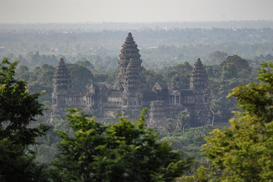 Angkor Wat - Aussicht vom Phnom Bakheng