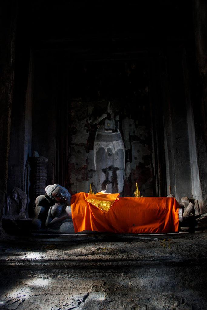 Angkor Wat: Schlafender Buddha im Quincunx