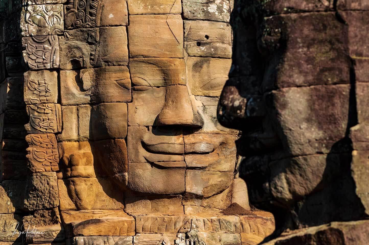 Bayon: Lächelndes Gesicht Bodhisvatta Lokeshvara