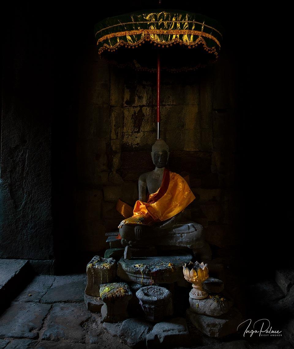 Buddha Figur im Bayon Tempel