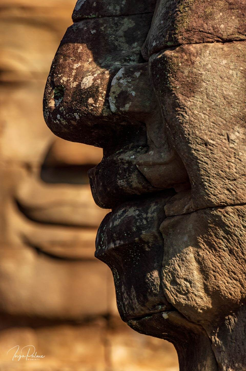Bayon Tempel, Gesicht Lokeshvara am Nachmittag
