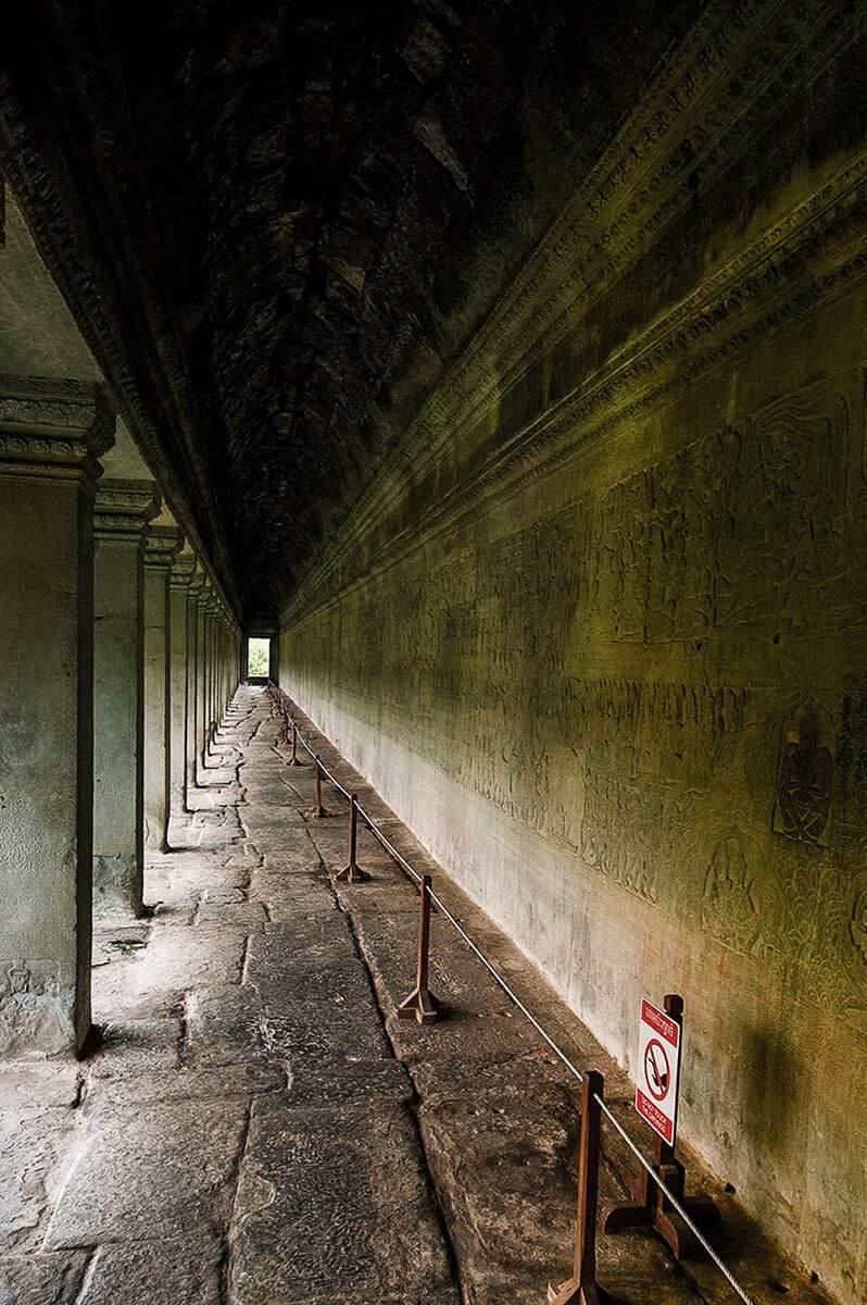 Angkro Wat - Galerie Flachrelief
