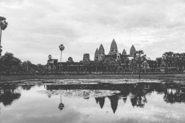 Angkor Wat - Seerosenteich sw