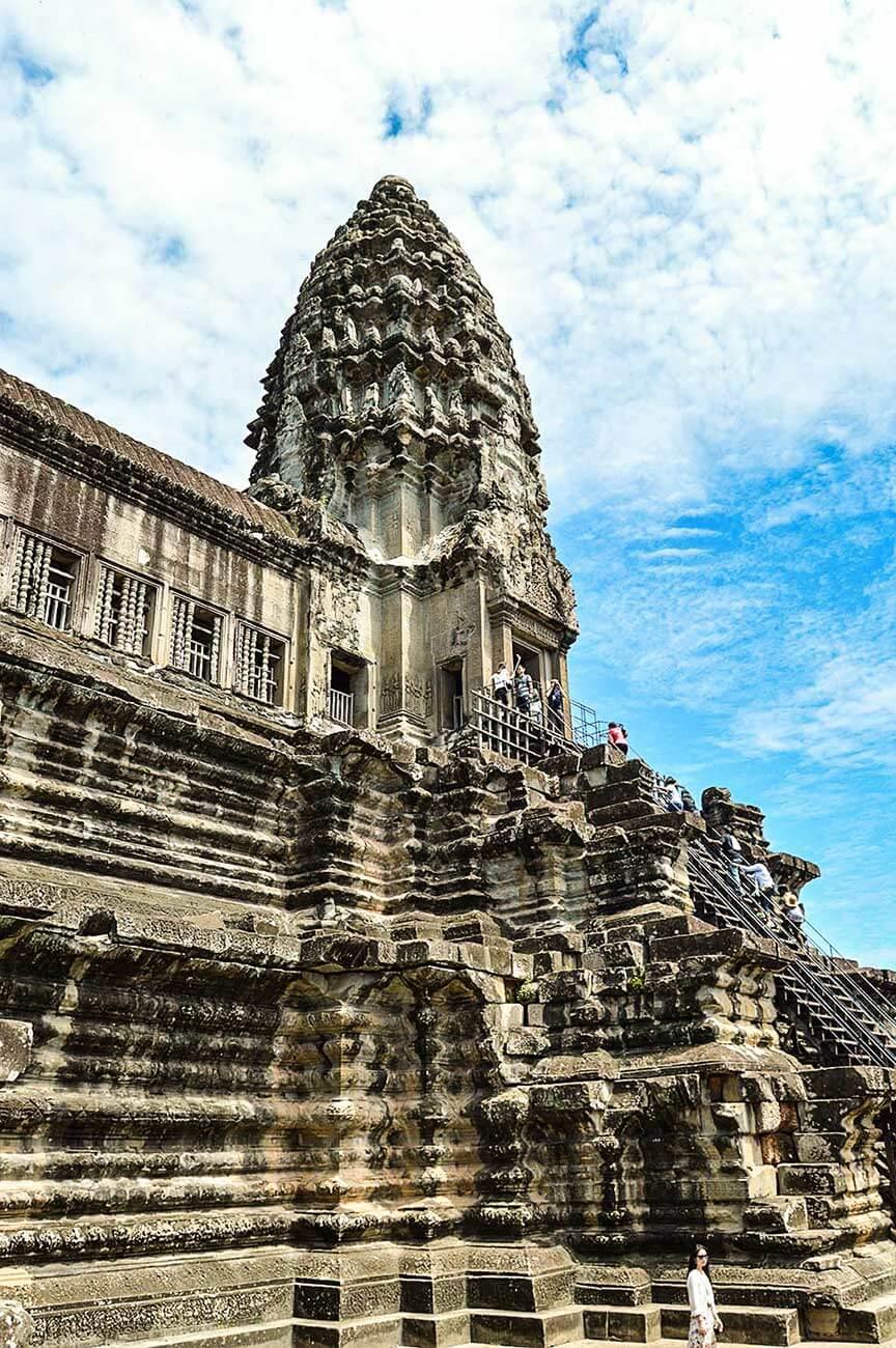 Angkor Wat - Blick auf die 3. Terrasse