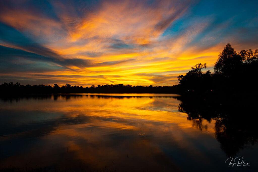 Sonnenuntergang am Srah Srang See