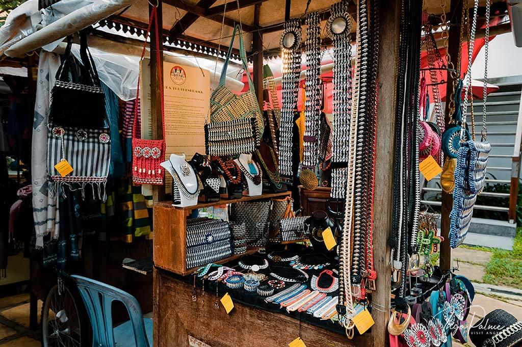 """No Waste"" Stand im Made in Cambodia Market"