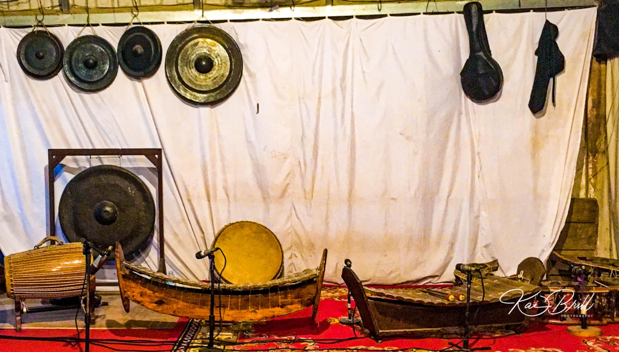 Musikinstrumente des kamb. Schattentheaters