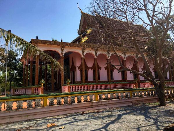 Neue Pagode in Kambodscha