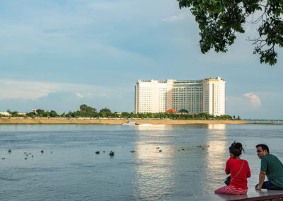 Blick auf das Sokha Hotel in Phnom Penh