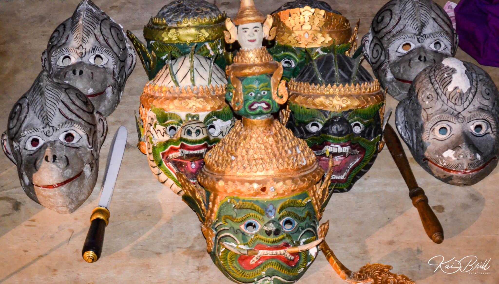 Masken des kamb. Schattentheaters
