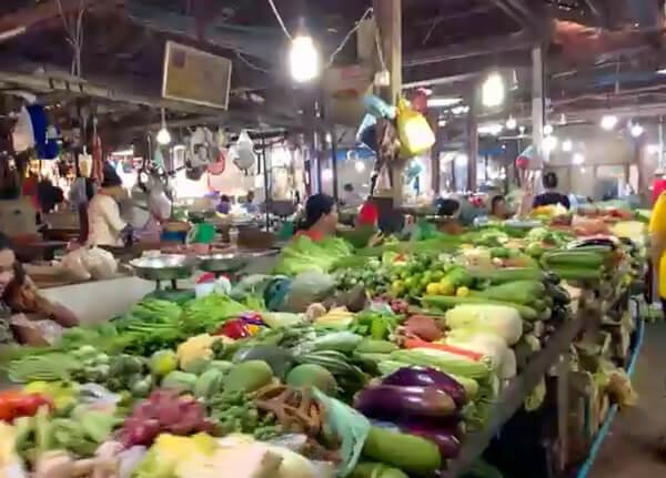 Ein Markt in Siem Reap