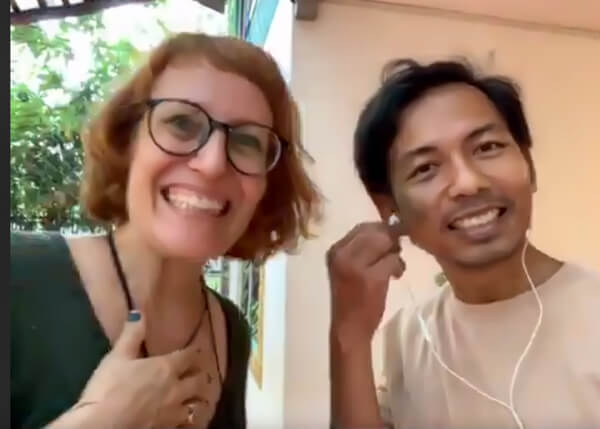 Sara vom HAVEN Restaurant und Samnang Chhon in Siem Reap