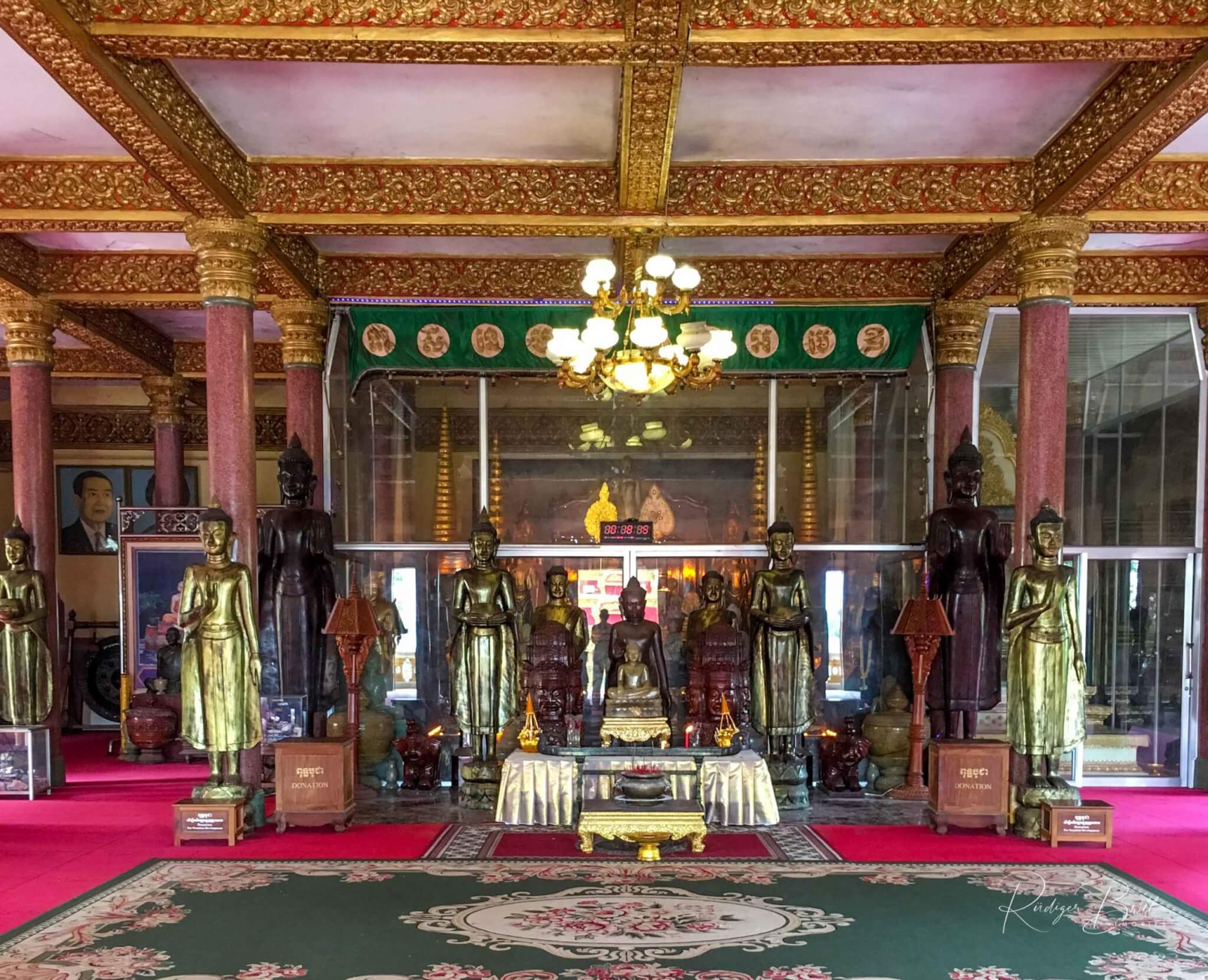 Innenraum Wat Ounalom Haupttempel