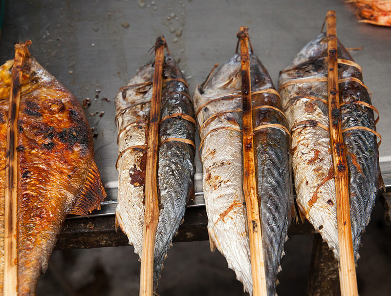 Gegriller Fisch in Kep, Foto: Nico Hartung