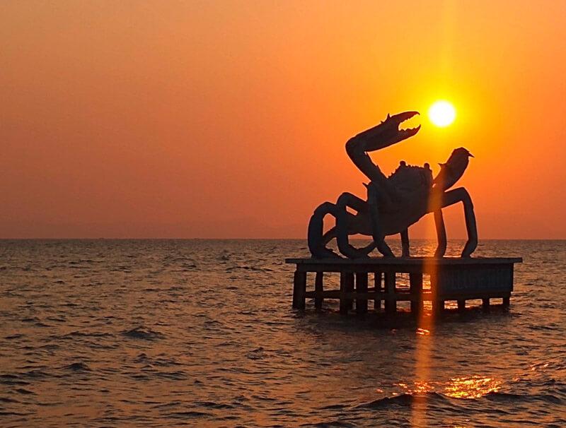 Krabben-Statue in Kep, Foto: Doris Köhl