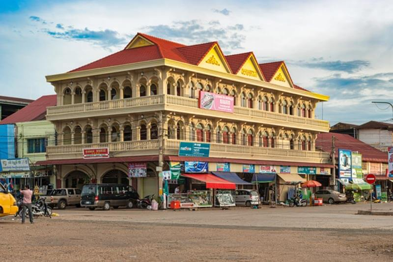 Kolonialgebäude ind er Provinz Stung Treng, Kambodscha