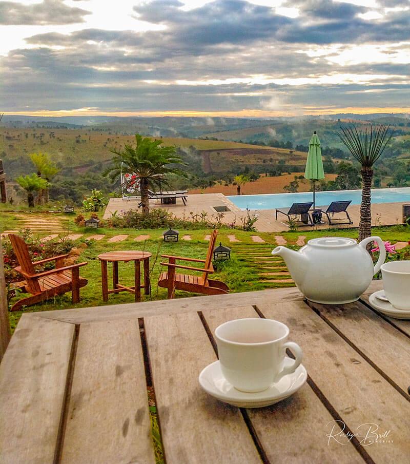 Lodge mit Ausblick in Mondulkiri, Kambodscha