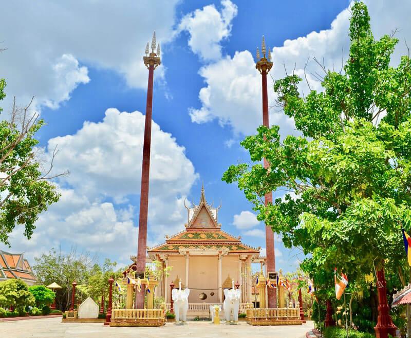 Pagode in der Provinz Takéo, Kambodscha