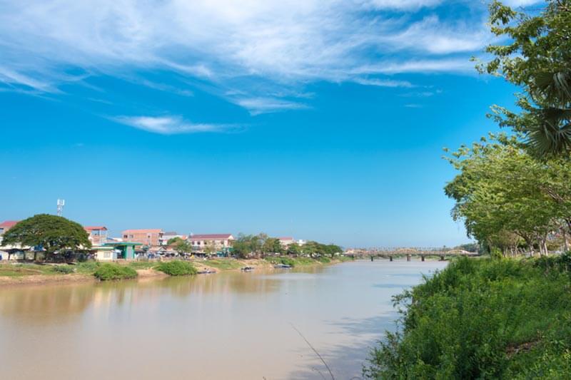 Steung Saen Fluss in Kampong Thom, Kambodscha