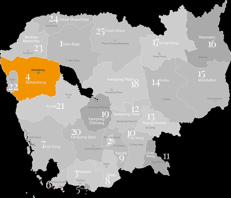 Battambang - Provinz und Stadt in Kambodscha