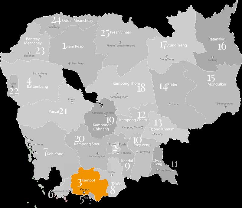 Kampot - Provinz in Kambodscha