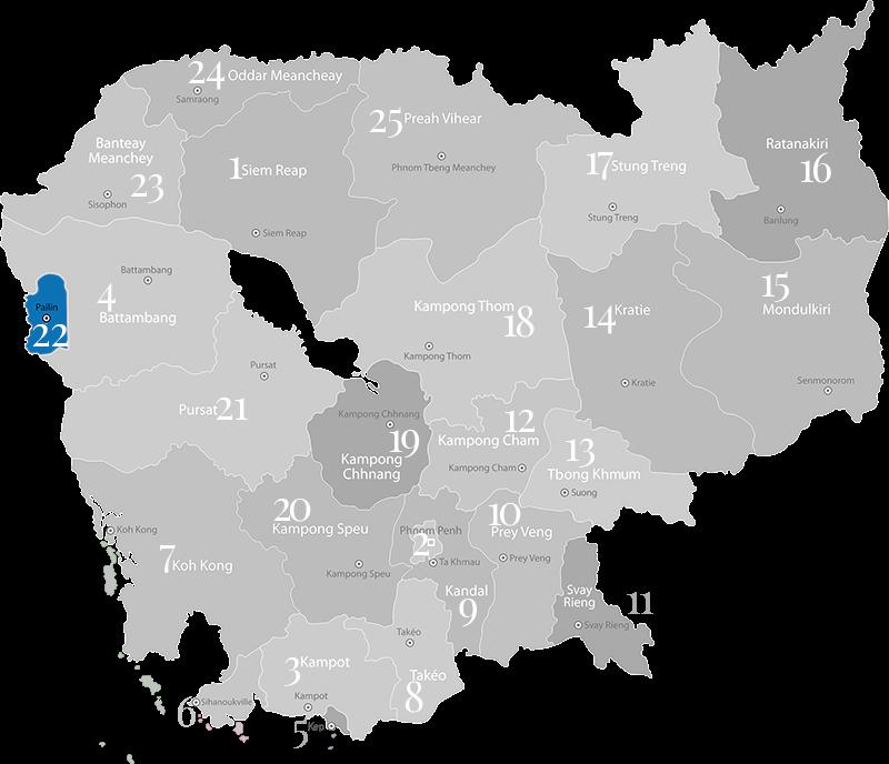 Pailin - Provinz in Kambodscha