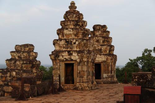 Blick der Tempel zur Morgensonne hin