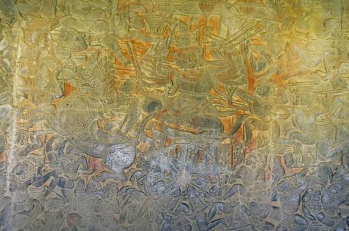 Schlacht um Lanka: Affenkönig Hanuman attakiert den Dämonen Ravana