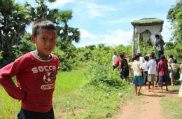 Boy at a funeral in Cambodia
