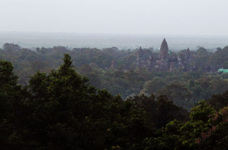 View to Angkor Wat from Phnom Bakheng