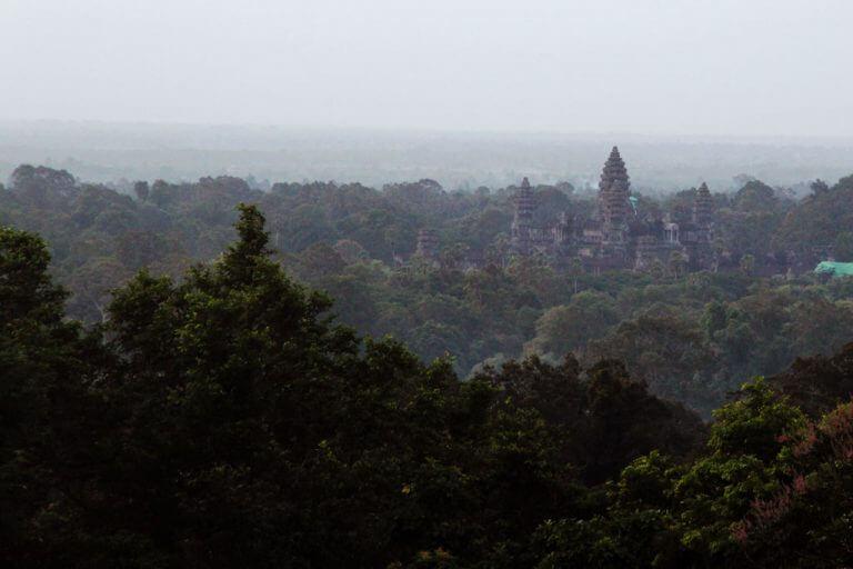 View to Angkor Wat from Phnom Bakheng