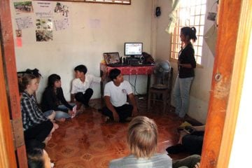 The headquarter of the Cambodian team