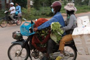 Transport of goods on motorbikes in Cambodia