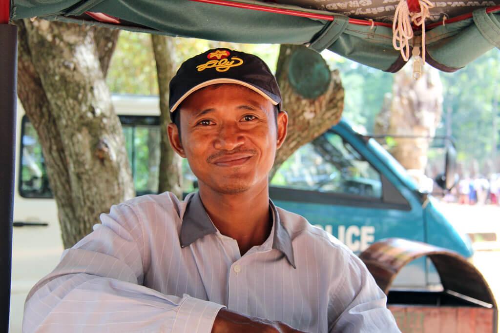 Mon - a Tuk Tuk driver in Siem Reap, Cambodia