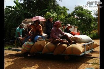 The Bamboo train in Cambodia