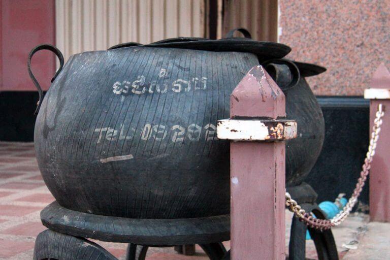 Ash barrel in Siem Reap