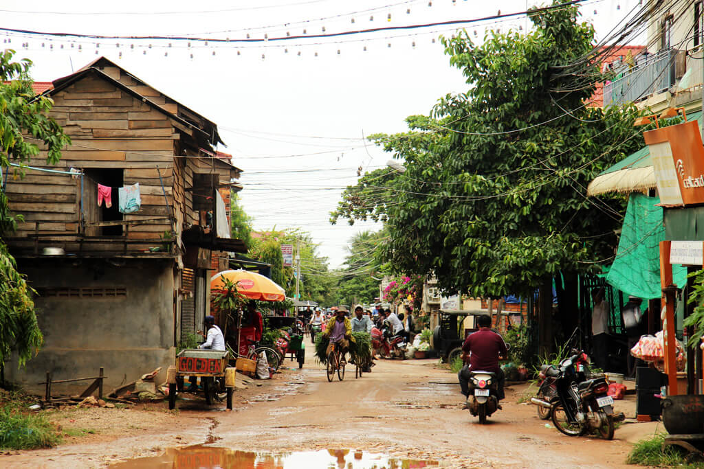 Traffic after rain in Siem Reap