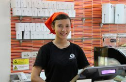 "Makara, waitress in ""The Blud Pumkin"" in Siem Reap, Cambodia"