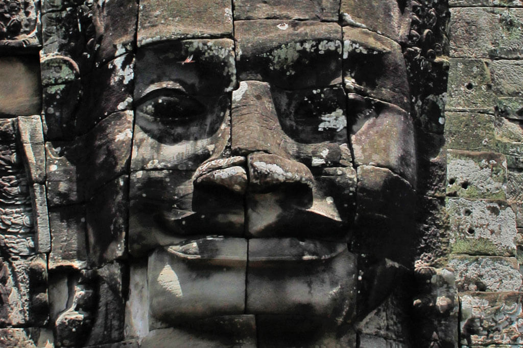 Bayon Temple: One of the four smiling faces of Lokeshvara