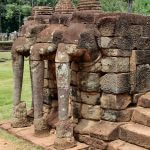 In the capital of Angkor Thom: Terrace of the Elephants