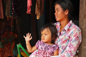 Mother with her child in Cambodia