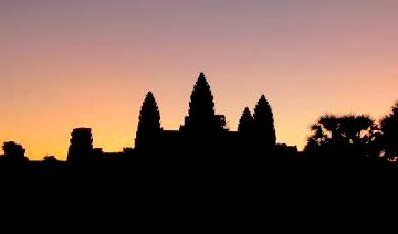 Sunrisee at Angkor during heliotrope