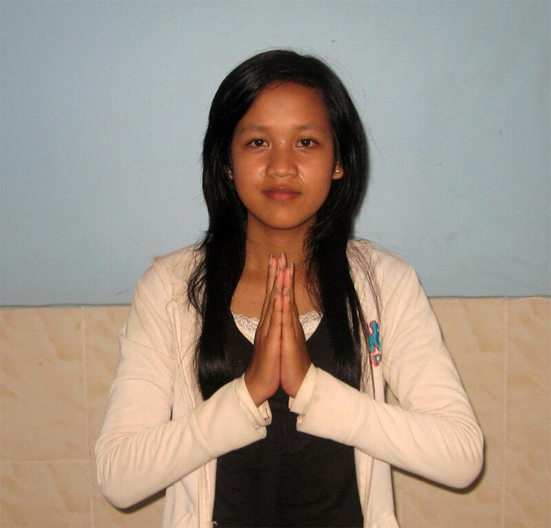 Performing Sampeah in Cambodia