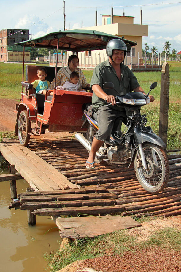 Tuk Tuk on a bridge